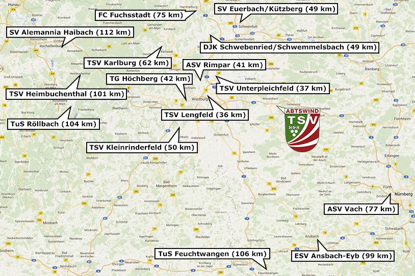 Landesliga Spielorte 2017/18